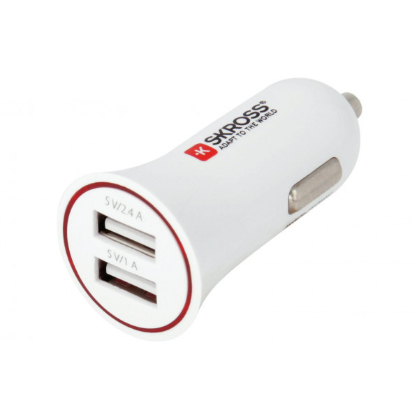 SKROSS Car Charger 2.4 A / 1.0 A